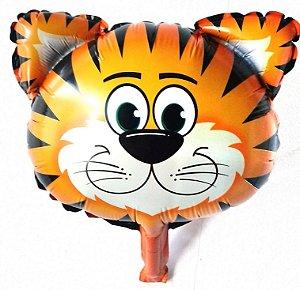 Balão Metalizado formato de Tigre 6 unidades