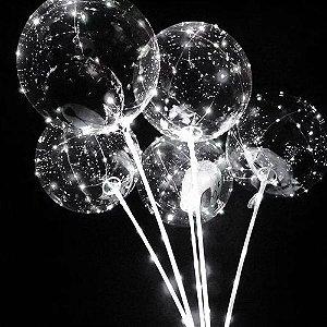 Balão de LED branco Kit 10 unidades