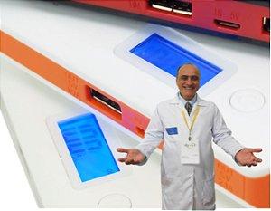 8 - Bateria Externa Power Bank Celular e Tablet professormarcelomoraes.org 10000mAh único com monitor de Tensão e Corrente + Curso Online: como aumentar a vida útil de seu celular e Tablet
