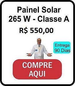 2 - Painel Solar Policristalino classe A InMetro  Entrega 60 dias -  Fabricado na Alemanha - 265 W  - Modelo AEG 265W  -   38 volts  8 Amperes NOCT 45 Graus LIGADO no MPPT 12  Volts 15 Amperes