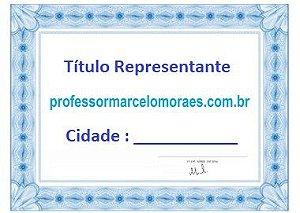 Título para Representante e Investidor  do Site Professormarcelomoraes.com.br