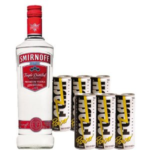 Combo Smirnoff 1L e 6 Flash Power
