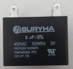 Capacitor 3,0MF 450V QUADADO