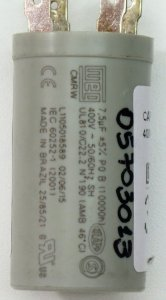 CAPACITOR 7,5UF 400VAC P0 42BCA036A510HDC