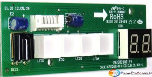 Placa Display Carrier Hi Wall Quente/Frio
