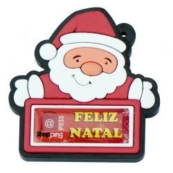 Chaveiro Papai Noel Personalizável - 100 unidades