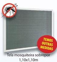 TELA MOSQUITEIRO E SOBREPOR - BRANCO