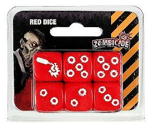 Kit de Dados Vermelhos Personalizados - Acessório para Zombicide