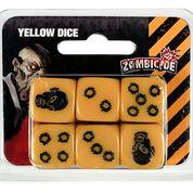 Conjunto com 6 Dados Amarelos Personalizados - Acessório para Zombicide