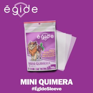 Sleeves Égide 43x65mm - Mini Quimera - com 100 Protetores