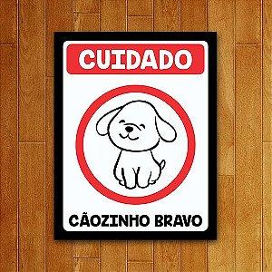 Placa Decorativa Atenção - Cãozinho Bravo