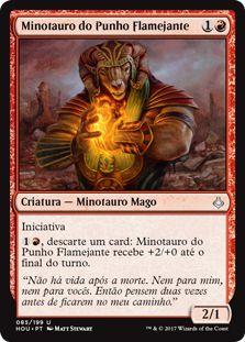 HOU 085 - Minotauro do Punho Flamejante (Burning-Fist Minotaur)