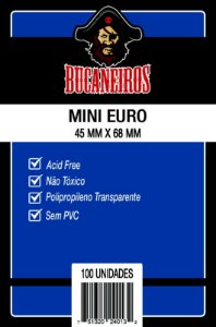 Sleeves Bucaneiros 45mmX68mm - Mini Euro - com 100 Unidades