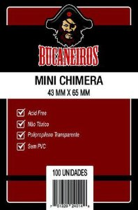 Sleeves Bucaneiros 43x65mm - Mini Chimera - com 100 Unidades