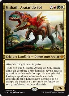 XLN222 - Gishath, Avatar do Sol (Gishath, Sun's Avatar)