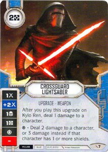 SWDTPG007 - Sabre de Luz com Guarda Cruzada -  Crossguard Lightsaber
