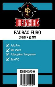 Sleeves Bucaneiros - Euro 59x92mm c/100