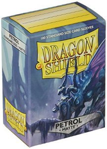 Sleeves Dragon Shield Matte Petrol 63 x 88 mm – com 100 (Standard Size) - para Card Games