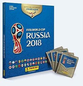 Álbum Oficial da Copa 2018 - Capa Dura (c/ 12 pacotes de figurinhas)