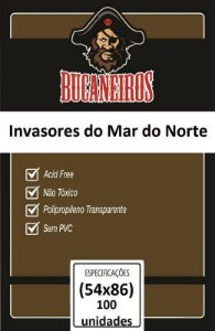Sleeves Bucaneiros 54x86mm - Customizado - Invasores do Mar do Norte - com 100 Unidades