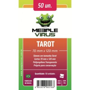 Sleeves Meeple Virus - Tarot 70x120mm c/100