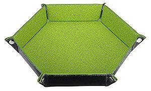 Bandeja de Dados Hexagonal - Dupla Face - Verde