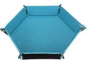 Bandeja de Dados Hexagonal - Dupla Face - Azul