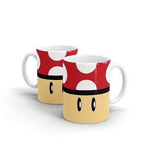 Caneca Super Mario - Cogumelo Vermelho - Power Up