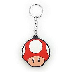 Chaveiro Super Mario - Cogumelo Vermelho - Power Up