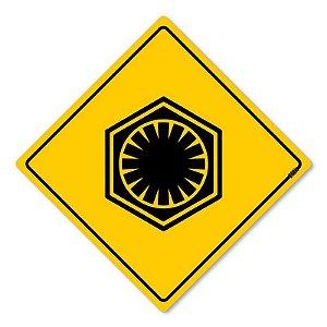 Placa Decorativa Star Wars - Primeira Ordem 30x30