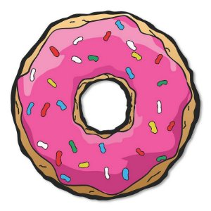 Placa Decorativa Os Simpsons - Donuts 30x30
