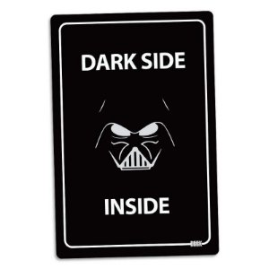 Placa Decorativa Star Wars - Dark Side Inside 24x16