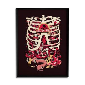 Quadro Decorativo Rick and Morty - Anatomy Park 30x20