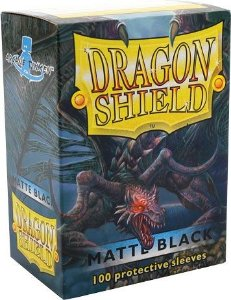 Sleeves Dragon Shield Matte Black 63 x 88 mm – com 100 (Standard Size) - para Card Games