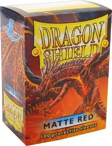 Sleeves Dragon Shield - Matte Red 63x88mm c/100