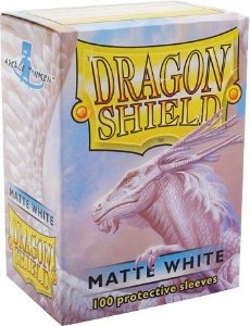Sleeves Dragon Shield - Matte White 63x88mm c/100