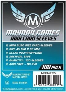 Sleeves Mayday 45x68mm - Mini Euro - Com 100 unidades