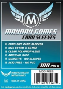 Sleeves Mayday 59x92mm - Euro - com 100 Protetores