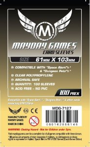 Sleeves Mayday 61x103mm - Magnum Space - com 100 Protetores