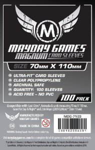Sleeves Mayday - Magnum Silver 70x110mm c/100
