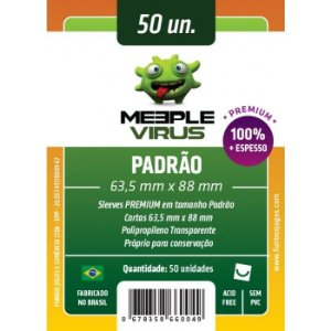 Sleeves Meeple Virus - Padrão PREMIUM 63.5x88mm c/50