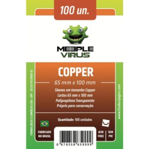 Sleeves Meeple Virus 65x100mm - Copper - para 7 Wonders