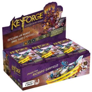 Keyforge: Colisão entre Mundos - Deck Display com 12 Decks