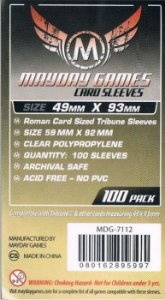 Sleeves Mayday 49x93mm - Tribune - para Tribune e outros