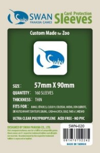 Sleeves Swan Panasia Games 57x90mm - Custom Made for ZOO - THIN com 160 Protetores de carta