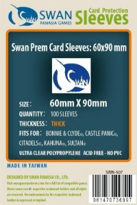 Sleeves Swan Panasia Games 60x90mm - Custom Made for CITADELS - THICK com 100 Protetores de carta