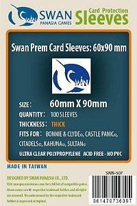 Sleeves Swan Panasia Games 60x90mm - Custom Made for CITADELS - THICK com 100 Protetores de carta