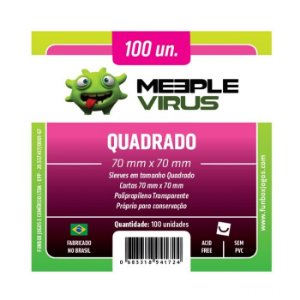 Sleeves Meeple Virus - Quadrado 70x70mm c/100
