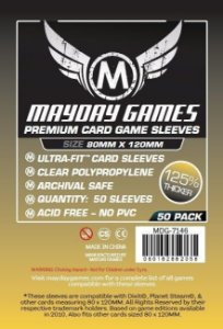 Sleeves Mayday 80x120mm - Magnum Gold - PREMIUM para Dixit