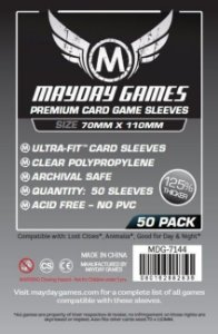 Sleeves Mayday 70x110mm - Magnum Silver - PREMIUM com 50